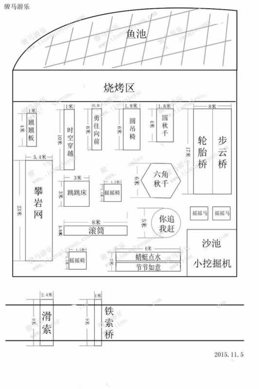 根据客户场地设计制作的体能乐园平面示例设计图_郑州